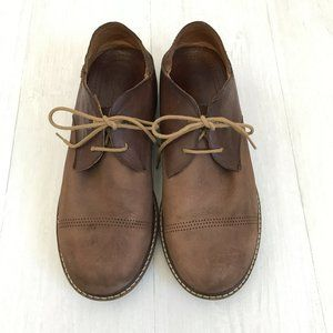 Olukai Walino Mens Brown Leather Lace Up Loafers